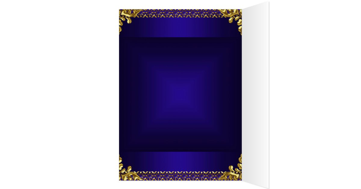 Royal Blue Wedding Invitation Cards: Wedding Card Invitation Gold Royal Blue