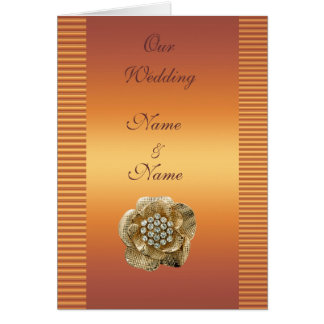 Wedding Card Save the Date Gold Diamond Gold Gem