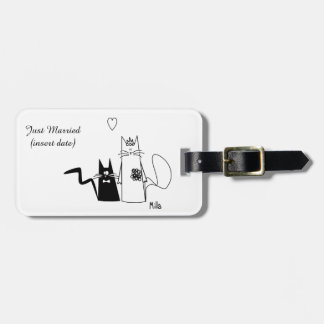 Wedding Cats Luggage Tag
