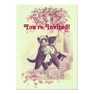 Wedding Cats Pastel Green Card