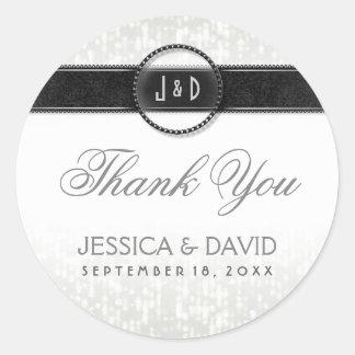 Wedding Celebration Art Deco Thank You Sticker