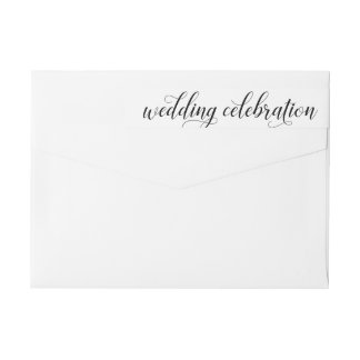 Wedding Celebration | Black and White Wrap Around Label