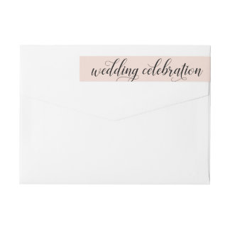 Wedding Celebration | Blush Pink Wrap Around Label