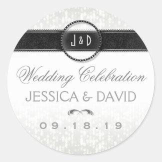 Wedding Celebration Deco Names & Date Sticker