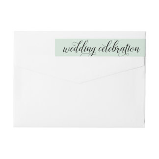 Wedding Celebration | Mint Green Wrap Around Label