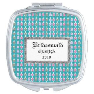 Wedding-Celebration-Monogram-Template-Compact's Makeup Mirror