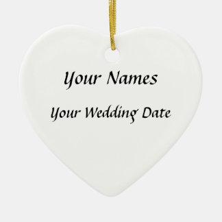 Wedding Ceramic Ornament