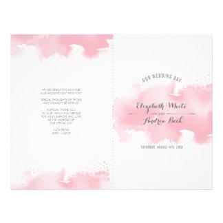 WEDDING CEREMONY stylish watercolor blush pink Flyer