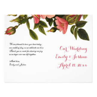 Wedding Ceremony Template Floral Program Flyer