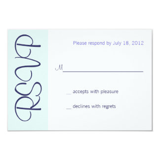 Wedding Champagne Toast RSVP Card