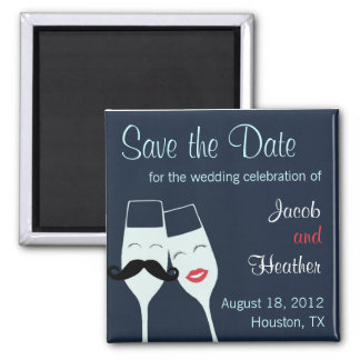 Wedding Champagne Toast Save the Date Magnet