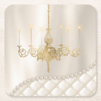 Wedding Chandelier Lighting Ivory Pearls Coaster