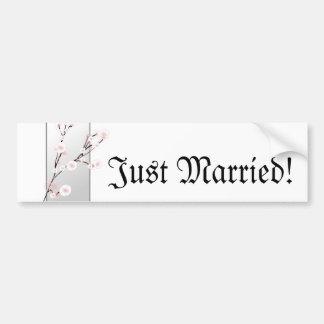 Wedding Cherry Blossoms Template Bumper Sticker