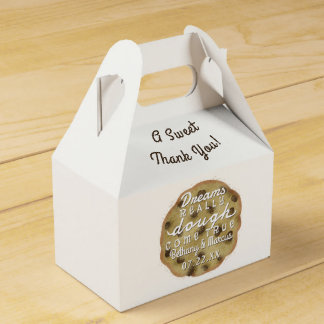Wedding Chocolate Chip Cookie Treats Dreams Dough Party Favor Boxes