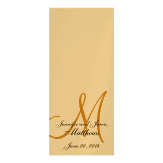 Wedding Church Program Monogram Metallic Gold Invite