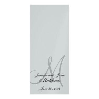 Wedding Church Program Monogram Metallic Silver Invitation