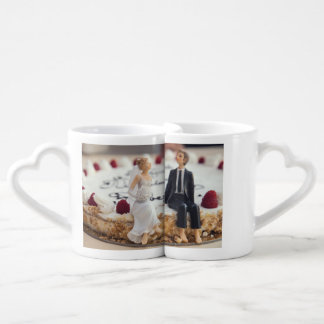wedding coffee mugs Forever Always Couple love SET