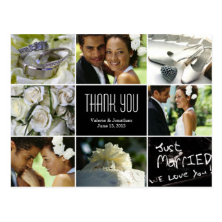 Wedding Collage Thank You Postcard