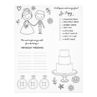 Wedding Coloring and Activity Page Letterhead Design