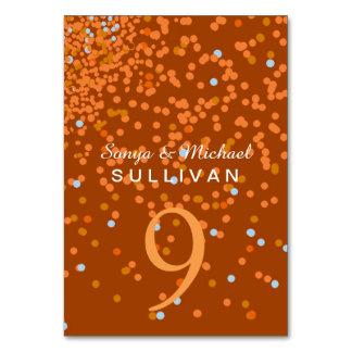 Wedding confetti table card