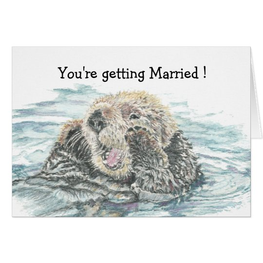 Wedding  Congrats Cute Excited Otter Humourous Card