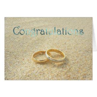 Wedding Congratulations. Beach Wedding congrats Card