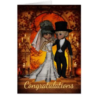 Wedding Congratulations for  Halloween Wedding Card