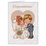 Wedding Congratulations Greeting Card - Bride And