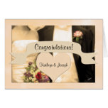 Wedding Congratulations Personalized Couple Greeting Card