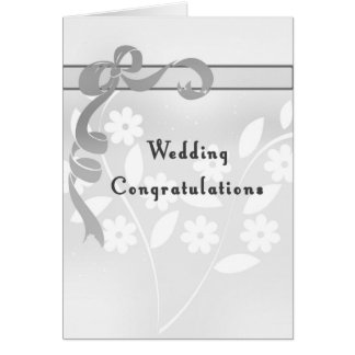 Wedding Congratulations to Cousin & Husband Card