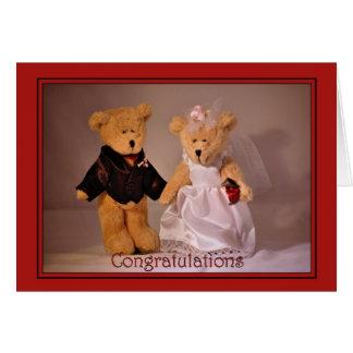Wedding Congratulations. Wedding teddy bears Greeting Card