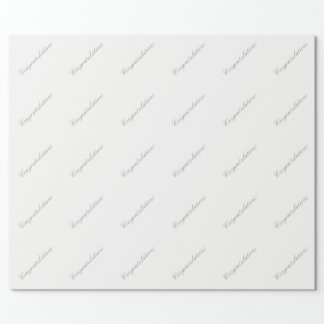 Wedding Congratulations Wrapping Paper