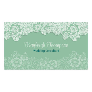 Wedding Consultant - Mint Lace Pack Of Standard Business Cards