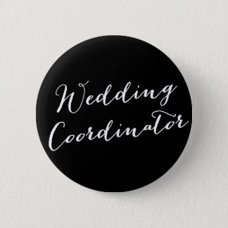 Wedding Coordinator Classic Bridal Party Button