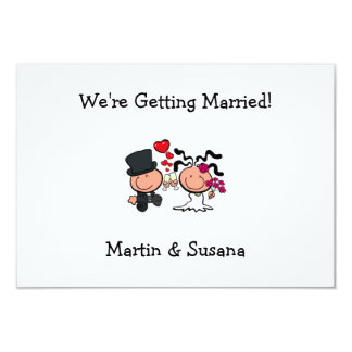 Wedding couple cartoon Invitation