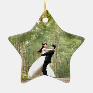 Wedding Couple Ceramic Ornament