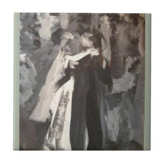 Wedding Couple Dancing painting Ceramic Tile