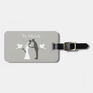 Wedding Couple Honeymoon Adventure Luggage Tag