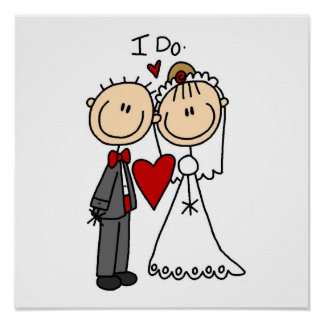 Wedding Couple I Do T-shirts and Gifts Poster