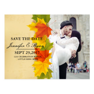 wedding couple kissing in street happiness/fall postcard