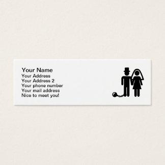 Wedding couple mini business card