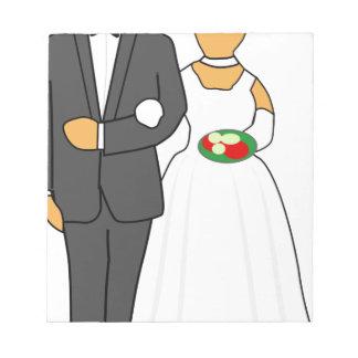 Wedding Couple Notepad