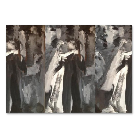 Wedding Couple Painting Table Card