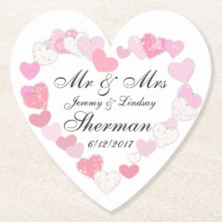 Wedding Couple Personalized Custom Paper Coaster