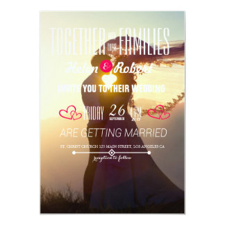 Wedding Couple Sunset Romance Card
