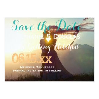 Wedding Couple Sunset Romance/Save The Date Card