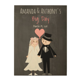 Wedding couple welcome sign wood canvases