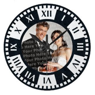 Wedding Couple's Photo Antique Style Clock