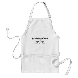 Wedding Crew Black Hearts Standard Apron