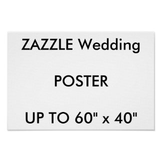 "Wedding Custom 16.5"" x11"" Poster PREMIUM Landscape"
